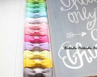 Mini Tuxedo Bow- Infant Hair Bow- Hair Clip- Birthday Gift - Hair Bow- baby girl hair bow- Toddler Hair Bow- You can choose colors