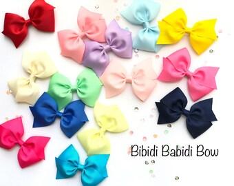 """Girl Hair Bow- Toddler Hair Bow- 3.5"""" bow- Birthday Gift- hair clip- little girl hair bow- You can choose colors"""