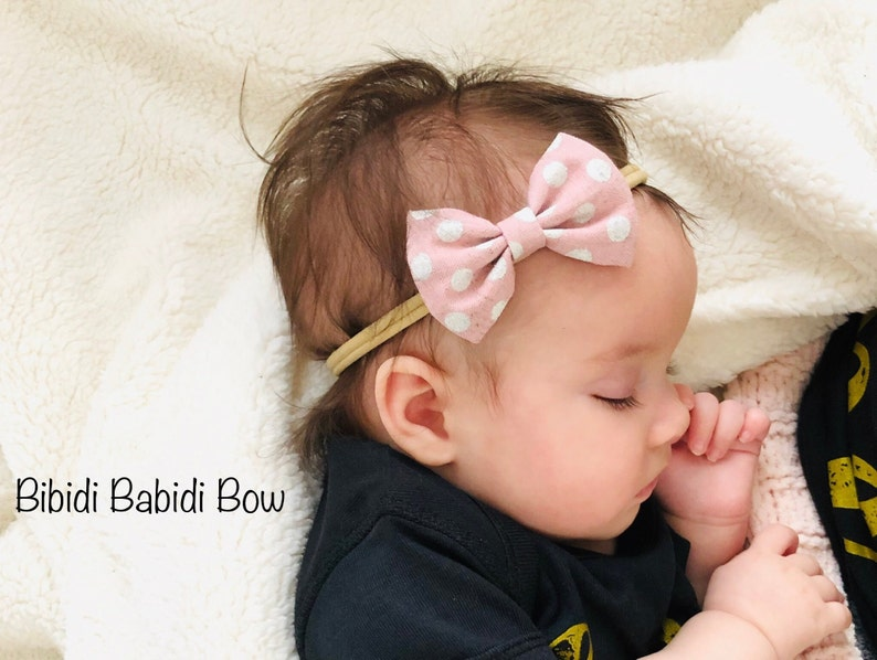 d1056b248aec1 Headband- Nylon Headbands- Hair Bows- Fabric bow Headbands- Classic Hair  Bows -Newborn Headbands- Big sister Little sister Hair Bows