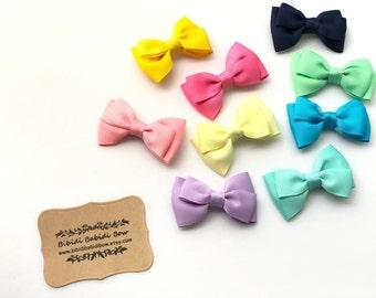 Girl Hair Bow- Asymmetric Hair Bow- Baby Girl Hair Bow- Birthday gift- Baby Hair Clip- You can choose colors