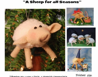 Hand Sewing Pattern -Sweet Sheep  (downloadable)