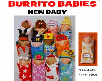 Sewing Pattern for Burrito Babies- New Baby (downloadable)