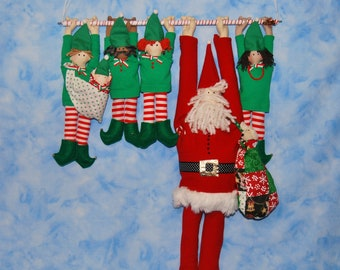 Free (nearly!)  Santa and Elves Downloadable Instructions from Light Heart Arts
