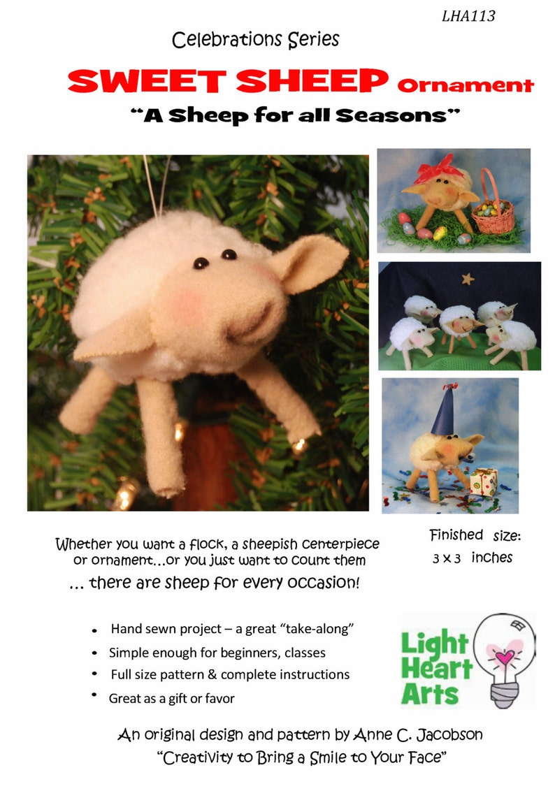 Hand Sewing Pattern Sweet Sheep  downloadable image 0