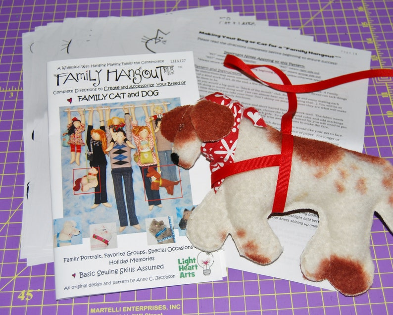 Sewing Pattern FH Pet Cat & Dog Downloadable Add YOUR Pets image 0