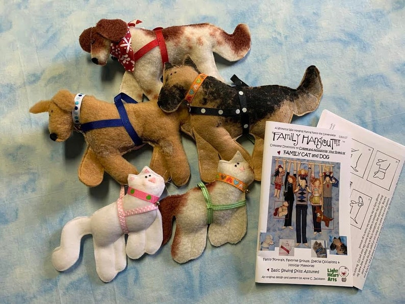 Sewing Pattern FH Pet Cat & Dog Downloadable Add YOUR Pets image 1