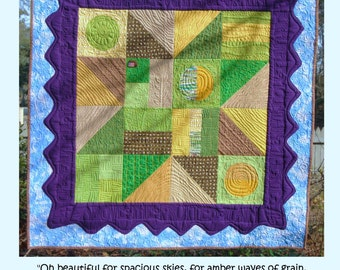 Quilt Pattern - Above the Fruited Plains  (downloadable)