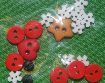 Totally Crazy Quilt Christmas Button Pack