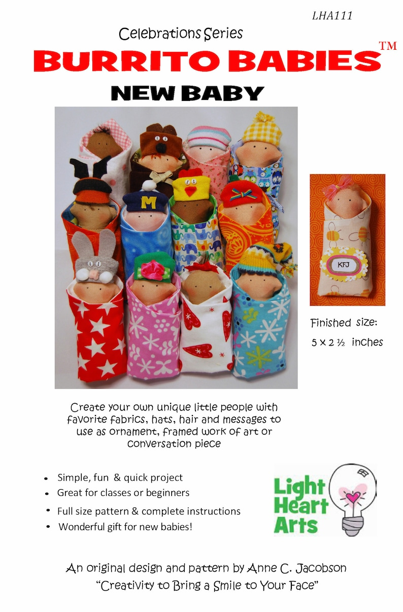 Sewing Pattern for Burrito Babies New Baby downloadable image 0