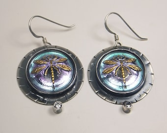 Dragonfly Earrings with cz