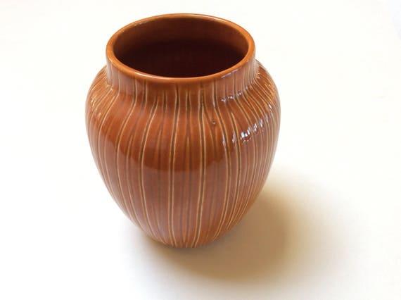 Mid Century Modern Vase Signed Herta Pottery B C Ceramics Etsy