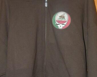 c1d78e84 Grateful Dead (California flag) steal your face - zip up Hooded sweatshirt