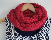 Red Infinity Scarf / Popp...