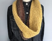 Gold and Brown Scarf / Go...