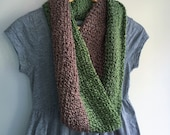 Green and Brown Scarf / G...
