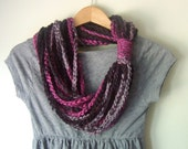 Pink Scarf Necklace / Hot...