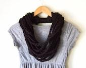Black Chain Scarf / Croch...