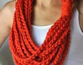 Orange Scarf Necklace / M...