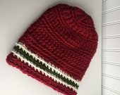 Red Beanie Cap / Red Gree...