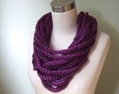 Purple Scarf Necklace / P...