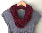 Barn Red Scarf Necklace /...