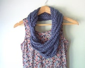 Blue Chain Scarf Necklace...