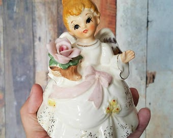 Vintage Price Imports Musical Rotating Birthday Angel Figurine  / Birthday Gift / Birthday Angel / Happy Birthday Angel / Music Box Angel