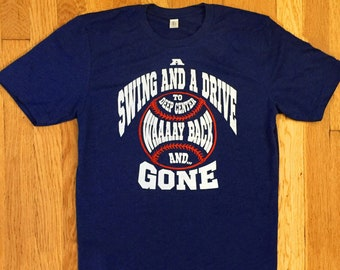 Cleveland Guardians Indians Baseball T-shirt - A Swing and a Drive, Way Back and Gone