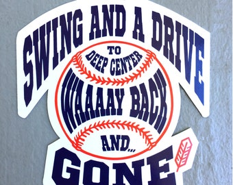 """Cleveland Guardians Indians Baseball Sticker - Swing and a Drive - 4"""" vinyl"""