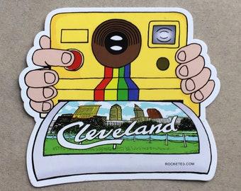 Cleveland Polaroid Sightseeing sticker - Cool Cleveland