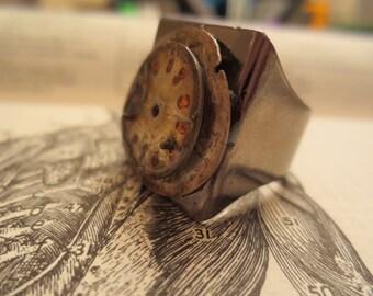 Men's Clockface Layered Ring