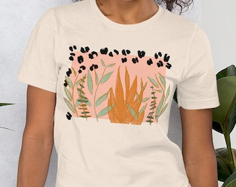 "Short-Sleeve Unisex T-Shirt -""Plantas Wild"" by Rehcy Vonne, Wild Plants, Succulents, Plant Lady, Miami, Plant Lover, Jungle Bungalow, Garden"