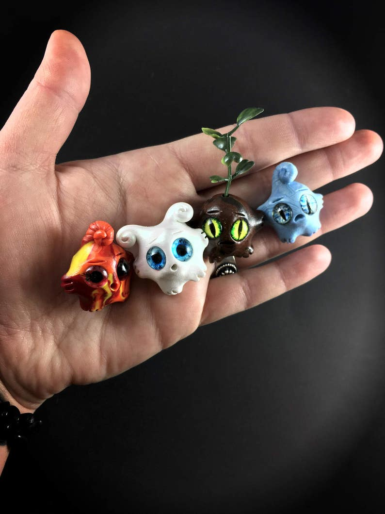 Elemental Worry Warts set // anxiety worry doll cute image 0