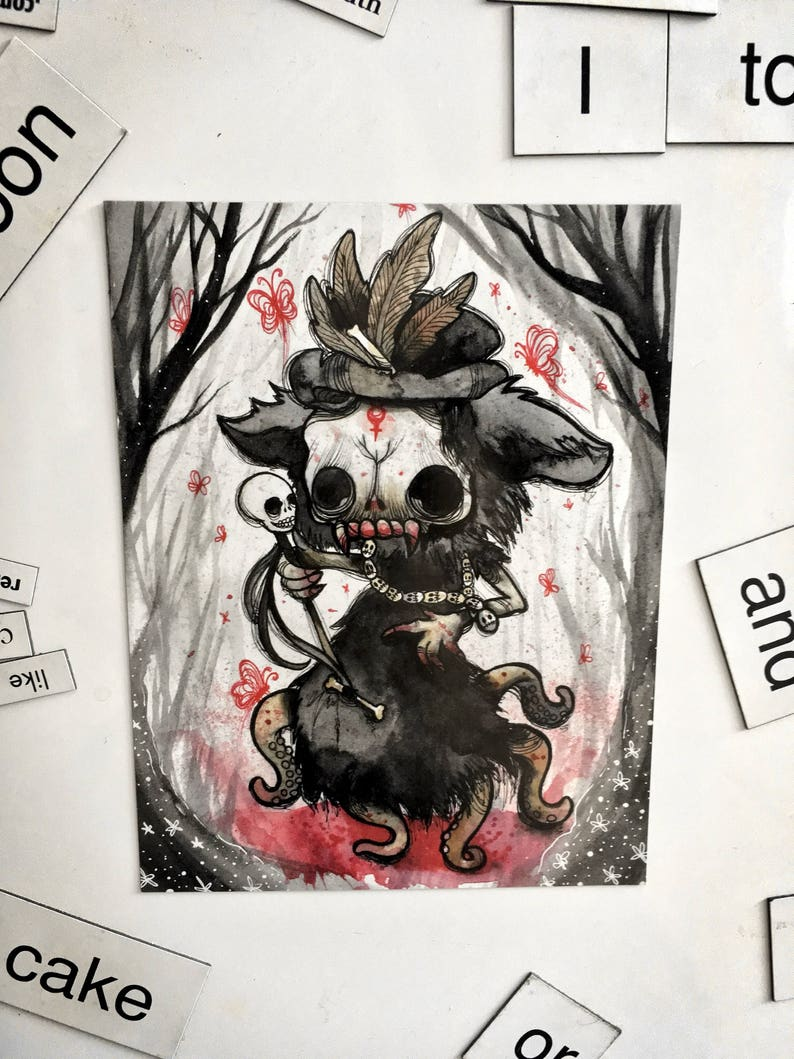 Blooderflies Magnet // horror voodoo monster fridge creepy image 0