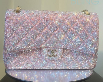 96047e298545 Urban Bling Customized Jumbo Chanel Flap Bag Swarovski Strassing SERVICE  Only
