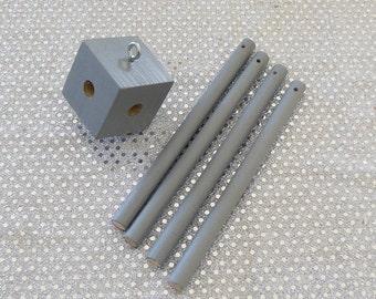 Grey Baby Mobile / Diy Baby Mobile Kit / Crib Mobile / Crib Mobile Kit / mobile frame/ mobile hanger / diy frame kit