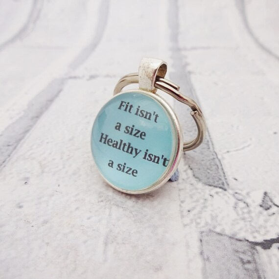 My worth is not measured by my size body positive plus size keychain or necklace or retractable ID badge clip Free shipping Gift