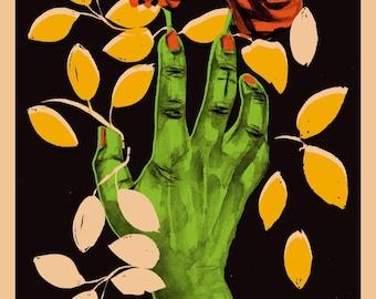 Hand Of Glory Halloween Print A4