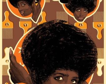 A3 AfroSheen Retro Poster Print