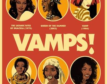 VAMPS! Black Femme Vamps Poster