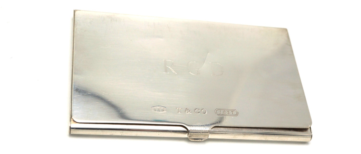 Vintage Authentic Tiffany & Co business card holder Sterling Silver ...
