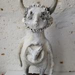 Guardian of the Wild, OOAK, Artdoll, handmade, art, sculpture, art, strange doll, paper clay,