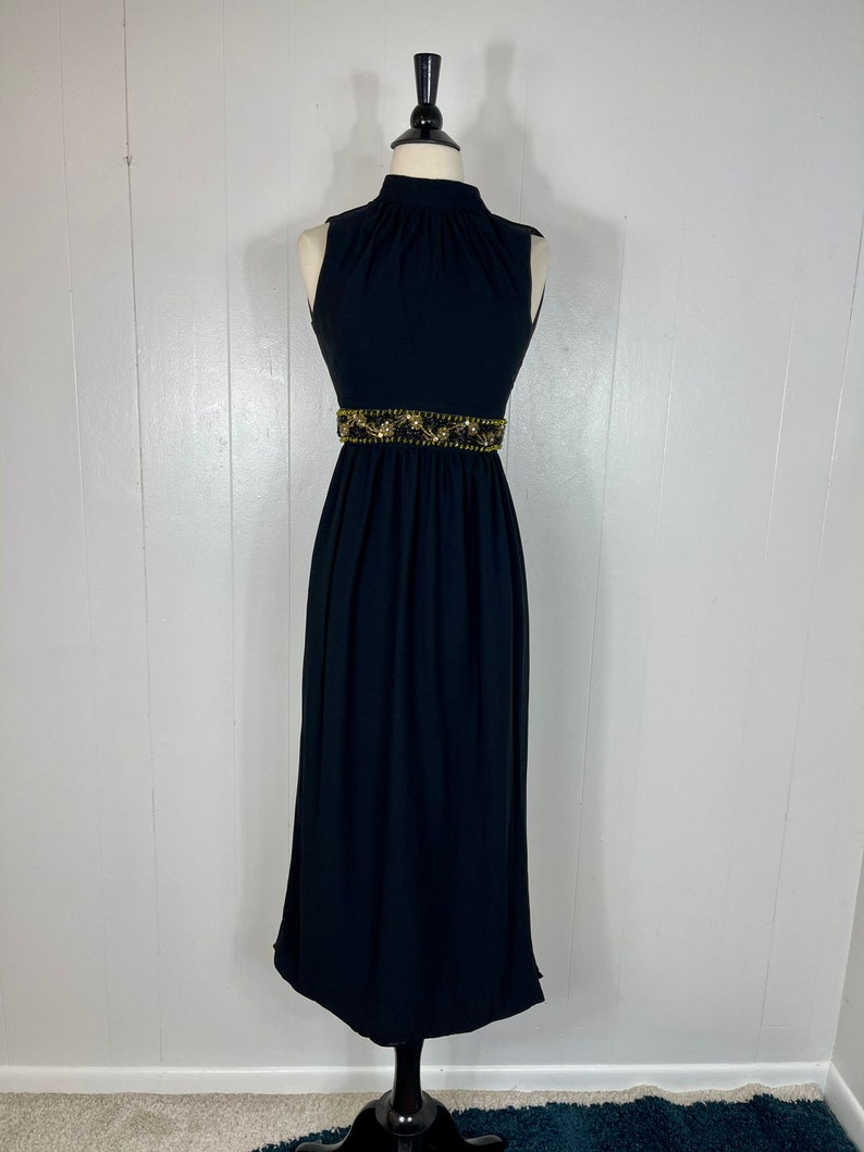 VINTAGE Maxi Dress Beaded Waist X-Small XX-Small