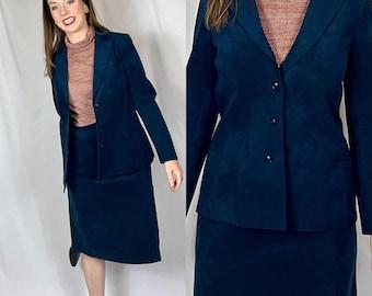 SIZE S/M | Vintage Skirt Set Navy Blazer | Abe Schrader