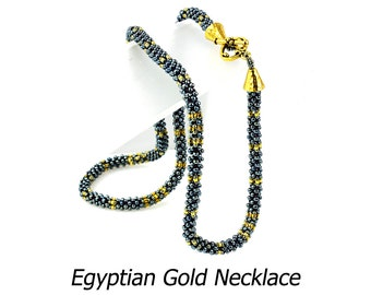 Egyptian Gold Necklace beadweaving Kit
