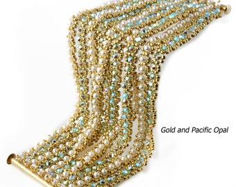 Choora Bead Weaving Bracelet Instructions