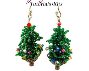 Christmas Tree Earring Kit (Beading Kit)