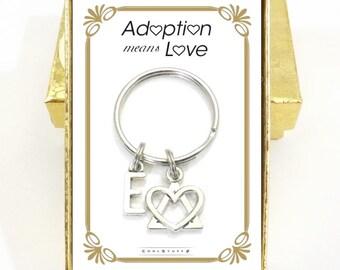 Adoption Gifts, Adoption Symbol Keychain, Adopting, Adoption Symbol, Foster Parent, Birth Mother, Adoption Means Love, Child, Dad  Gift