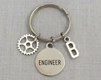 Engineer Gifts, Mechanical Engineer Keychain, For Him. For Her, Engineering Key Chain, Retirement Gift, Engineering Student Engineer College