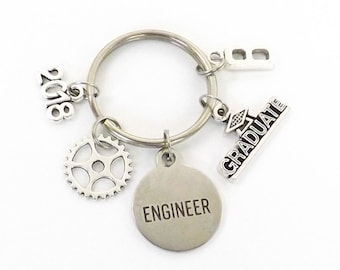 Engineer Gifts, Mechanical Engineer Graduate, Engineering College Graduation Gift for Him Her Class of 2018 Keychain, Key Chain College Gift